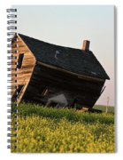 Weathered Old Farm House In Scenic Saskatchewan Spiral Notebook