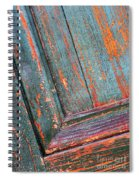 Weathered Orange And Turquoise Door Spiral Notebook