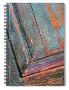 Weathered Orange And Turquoise Door Spiral Notebook