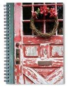 Weathered Red Door 3 Spiral Notebook