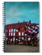 Weathered Rusting Shipwreck Spiral Notebook
