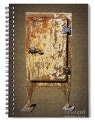 Weathered Rusty Refrigerator Spiral Notebook