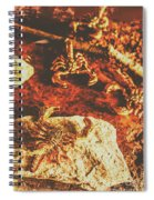 Weathered Scorpion Art Spiral Notebook