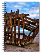 Weathered Shipwreck Spiral Notebook