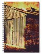 Weathered Vintage Rural Shed Spiral Notebook