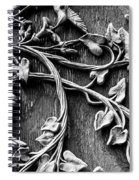Weathered Wall Art In Black And White Spiral Notebook