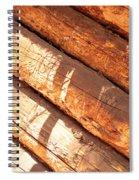 Weathered Wood Log Cabin Spiral Notebook