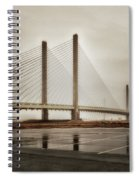 Weathering Weather At The Indian River Inlet Bridge Spiral Notebook