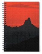 Weaver Needle Sunset Spiral Notebook