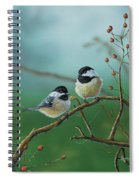 Web Chickadees Spiral Notebook
