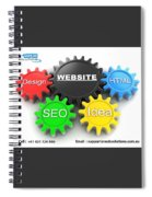 Web Design And Development Company In Adelaide  Spiral Notebook
