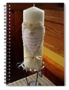 Wedding Candle  Spiral Notebook
