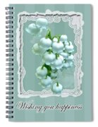 Wedding Happiness Greeting Card - Lily Of The Valley Flowers Spiral Notebook