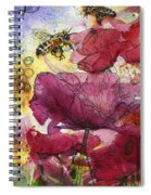 Wee Bees And Poppies Spiral Notebook