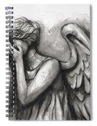Weeping Angel Watercolor Spiral Notebook
