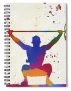 Weightlifter Paint Splatter Spiral Notebook