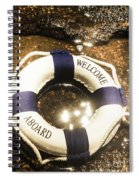 Welcome Aboard Nautical Paradise Spiral Notebook