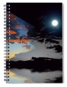 Welcome Beach Day And Night 2 Spiral Notebook