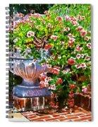 Welcome Flower Urn Steps Spiral Notebook