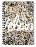 Welcome Seashell Background Spiral Notebook