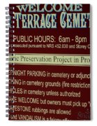 Welcome Silver Terrace Cemeteries Spiral Notebook