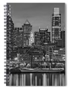Welcome To Penn's Landing Bw Spiral Notebook