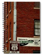 Welcome To The Main Street Of America Spiral Notebook