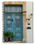 Welcoming Entrance And Strolling Cat Spiral Notebook