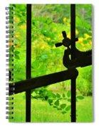Welded Garden Gate Spiral Notebook