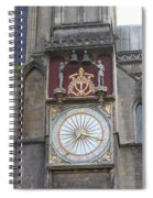 Wells Cathedral Outside Clock Spiral Notebook