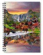 Wells Fargo Stagecoach Spiral Notebook