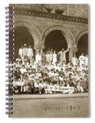 We're Up Against It,students On Steeps Of Encina Hall At Stanford University April 18,1907 Spiral Notebook