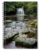 West Burton Falls, Yorkshire, England Spiral Notebook