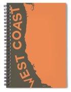 West Coast Pop Art - Crusta Orange On Judge Grey Brown Spiral Notebook