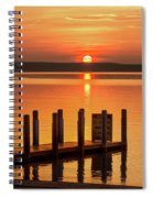 West Dnr Boat Launch July Sunrise Spiral Notebook