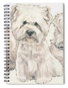 West Highland White Terrier Puppies Spiral Notebook