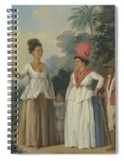 West Indian Women Of Color, With A Child And Black Servant Spiral Notebook