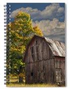 West Michigan Barn In Autumn Spiral Notebook
