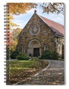West Parish Chapel In Fall, Andover, Ma Spiral Notebook
