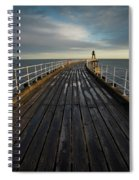 West Pier, Whitby, England Spiral Notebook