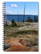 West Thumb Geyer At Yellowstone Lake Spiral Notebook