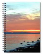 West Vancouver Sunset Spiral Notebook
