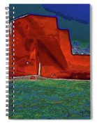 West View Of Church In Ranchos Spiral Notebook