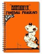 West Virginia 1925 Football Program Spiral Notebook