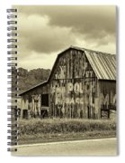 West Virginia Barn Sepia Spiral Notebook