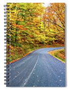 West Virginia Curves - In A Yellow Wood - Paint Spiral Notebook