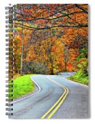 West Virginia Curves Spiral Notebook