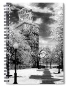 Western Auto In Winter Spiral Notebook