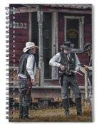 Western Cowboy Re-enactors At 1880 Town Spiral Notebook
