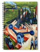 Western Harbour In Frankfurt  Spiral Notebook